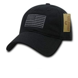 American Flag Embroidered Washed Cotton cap